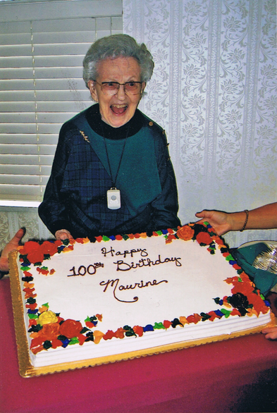 Maureen Link at her 100th birthday