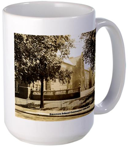 Buy an Emerson School mug, one of many gifts available at Emerson Memories